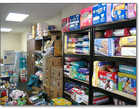 Infant care items at Birthcare